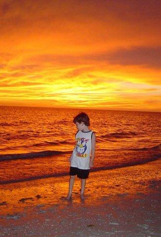 Naples at sunset