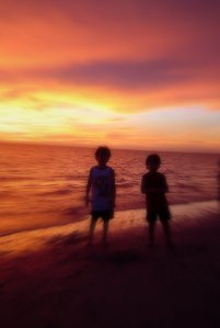Boys at sunset, Naples '04