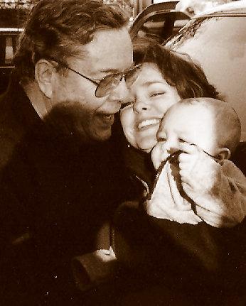Dad, me, baby Sam