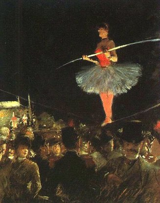 "1895, ""The Tightrope Walker"" by Jean-Louis Forain (1852-1931)"